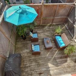 Backyard at 168 Dallimore Circle, Banbury-Don Mills, Toronto
