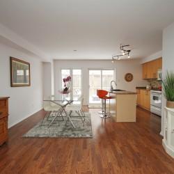 Kitchen & Dining Room at 168 Dallimore Circle, Banbury-Don Mills, Toronto