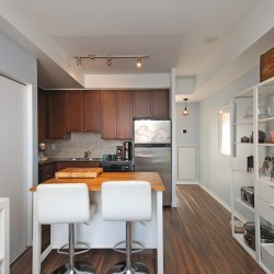 Living, Dining & Kitchen at 505 - 30 Canterbury Place, Willowdale West, Toronto