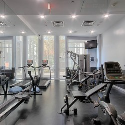 Exercise room at 505 - 30 Canterbury Place, Willowdale West, Toronto